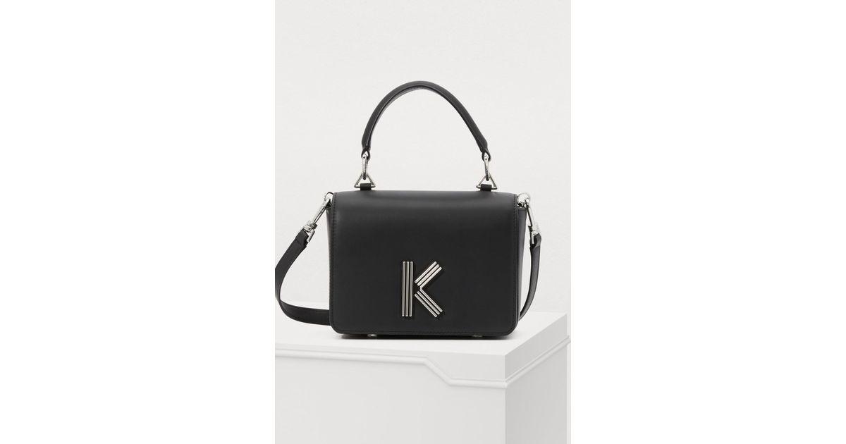En Croisé K Bag Cuir Noir Kenzo Coloris Lyst Sac Porté 3TJcuFlK1