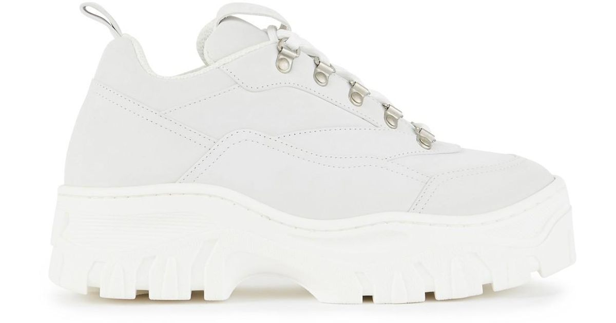 cheap for discount 6526a 188ca MSGM White Scarpa Donna Platform Trainers