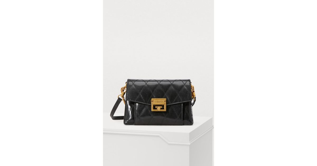 05f334d5ca Lyst - Givenchy Small Gv3 Bag In Diamond Quilted Leather in Black