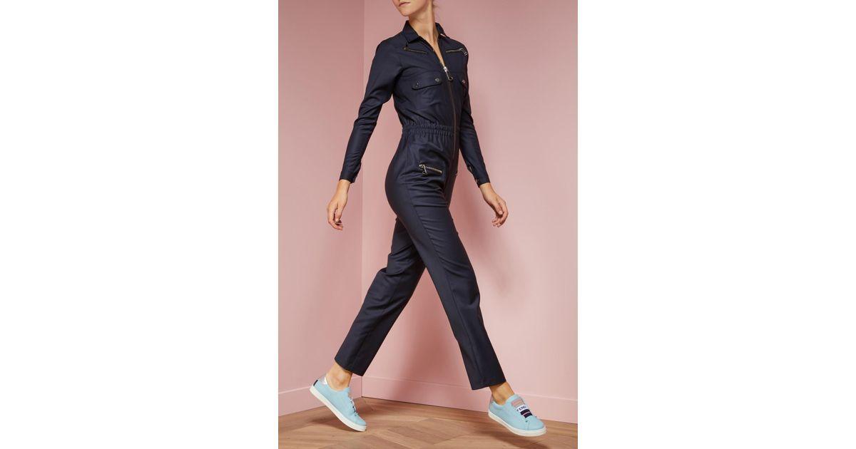 le moins cher meilleur prix une grande variété de modèles Combinaison Nikita 90 en laine Carolina Ritzler en coloris Blue