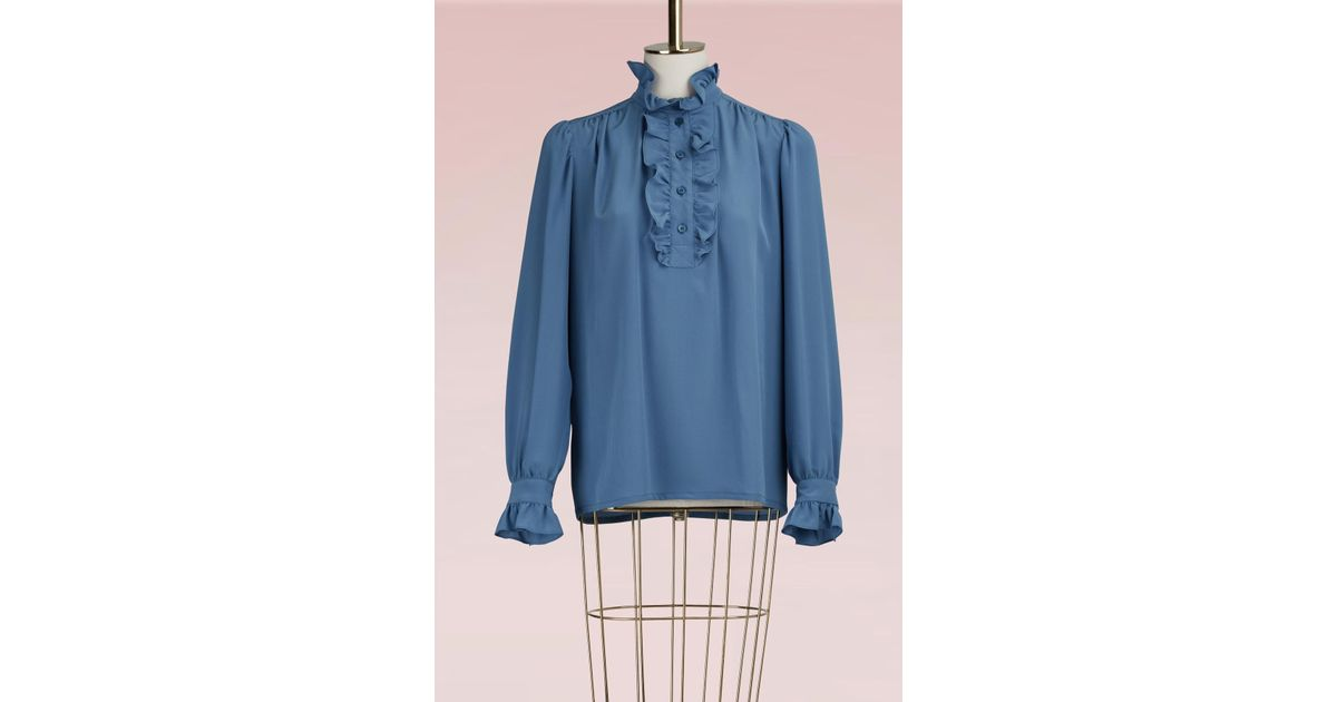 Meredith Crepe Blouse Stella McCartney Cheapest Price Online Online Shop From China Pay With Paypal Cheap Online Pvf3QB