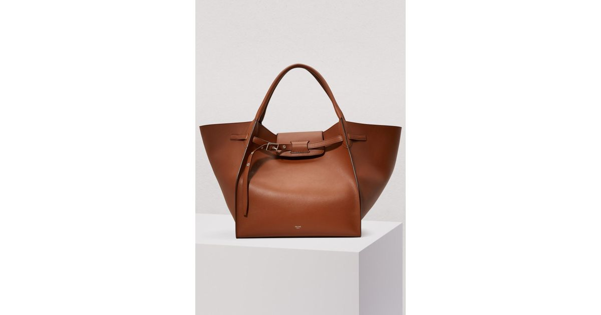 Lyst - Céline Medium Big Bag In Smooth Calfskin in Brown f77b9014aaa8a