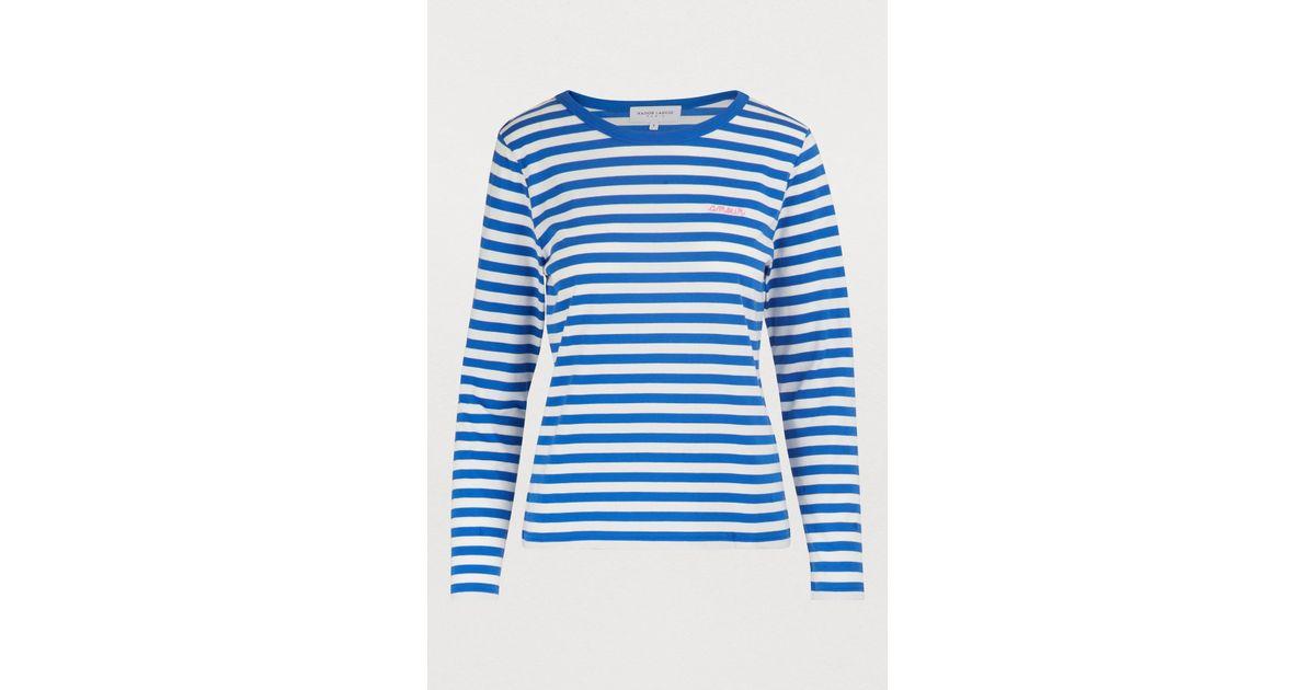 d9e38a6841 Lyst - Maison Labiche Amour Striped T-shirt in Blue