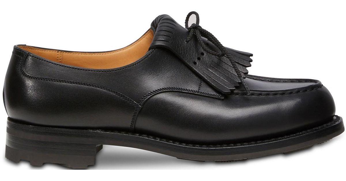 en gros premier taux promotion spéciale J.M. Weston Black Calf Box Golf Derby