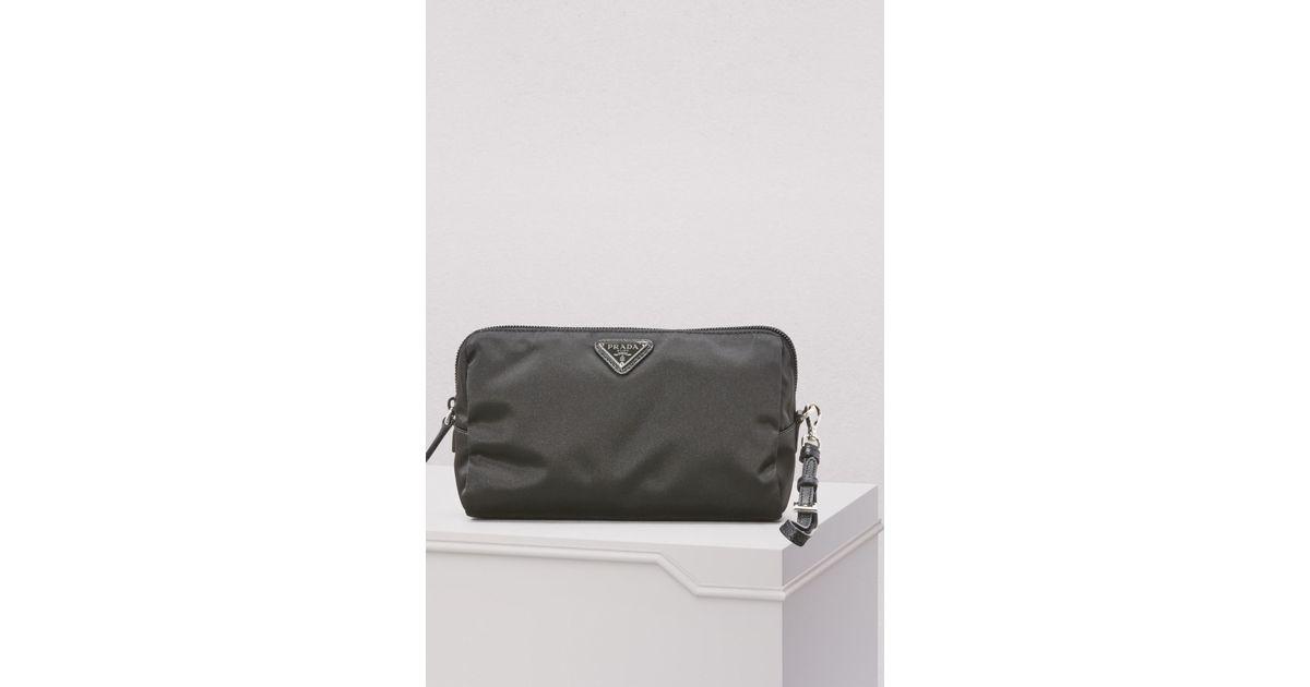 2595deb940aa where can i buy lyst prada nylon clutch bag in black 06357 1a045