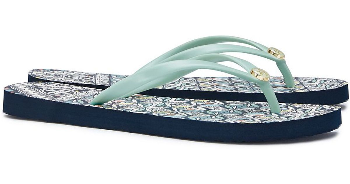 cded0d031fa Lyst - Tory Burch Thin Flip Flop in Blue