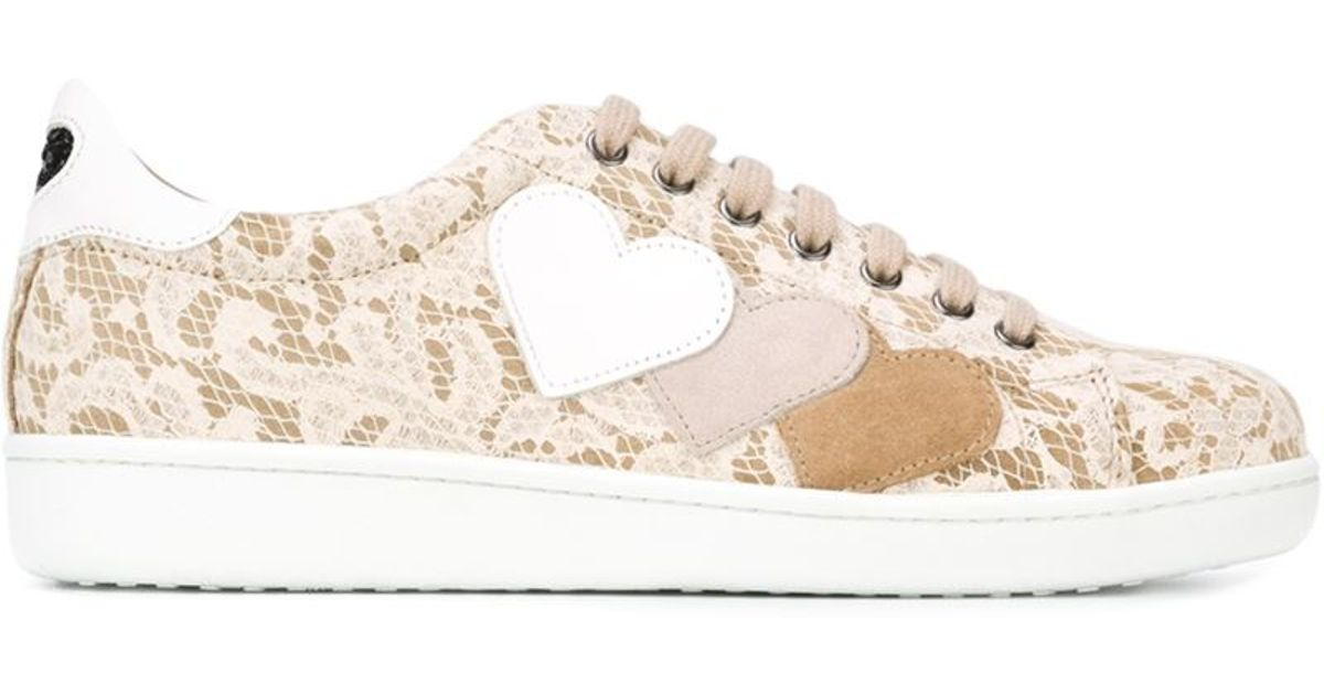 the best attitude f5c14 2d9b2 Twin Set Natural Lace Sneakers