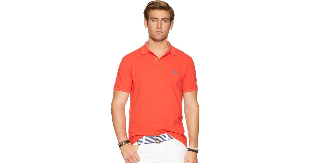 ccb0e2edd Lyst - Polo Ralph Lauren Classic-fit Mesh Polo in Pink for Men