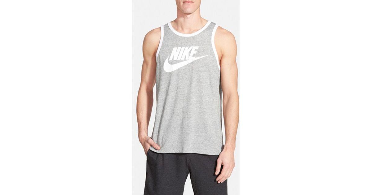33373d53267 Lyst - Nike  Sportswear Ace  Tank Top in Gray for Men