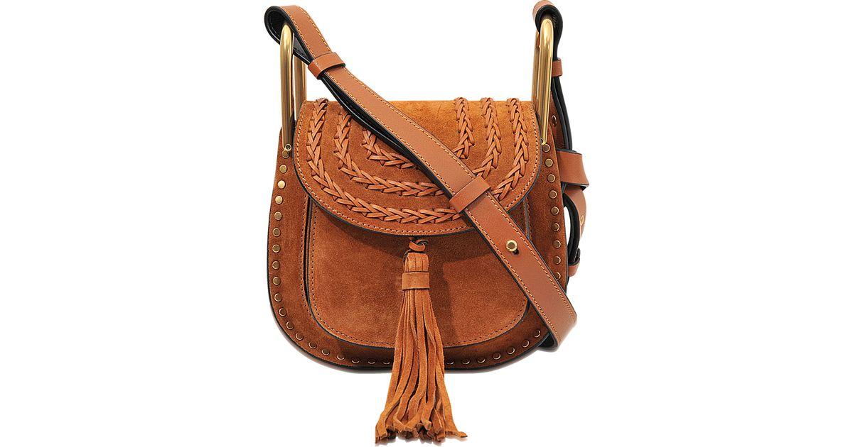 6c386fb86 Chloé Hudson Mini Suede Shoulder Bag in Brown - Lyst