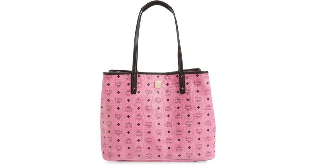 9fc62821e525 Lyst - MCM  medium Project Visetos  Reversible Shopper in Pink