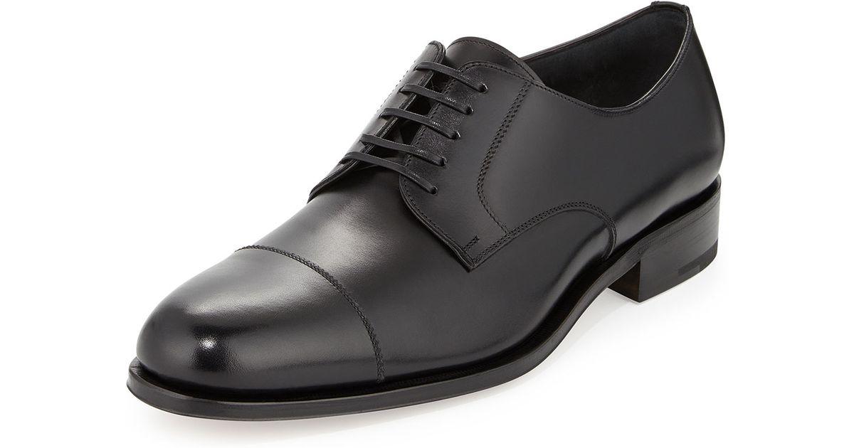 Ferragamo Rand Calfskin Lace-up Shoe in