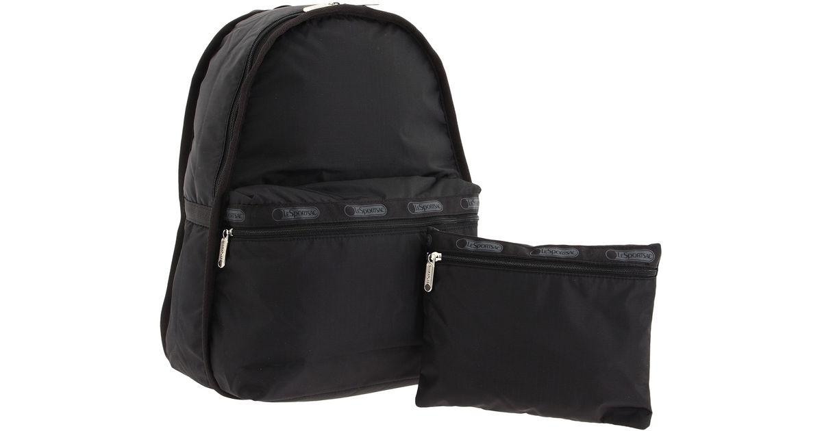 085a8c7fc LeSportsac Basic Backpack Bag in Black - Lyst