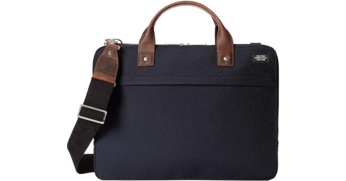 9d89ad3adcaf Lyst - Jack Spade Luggage Nylon Slim Brief in Blue for Men
