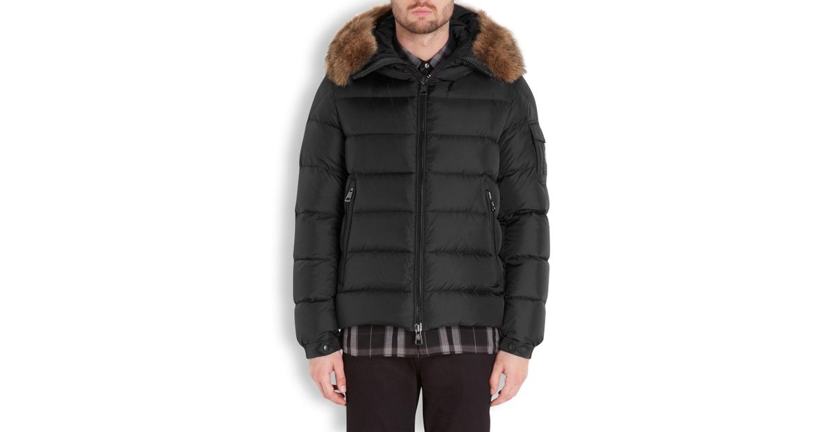 8b50c8d2d Moncler Byron Black Hooded Quilted Shell Jacket