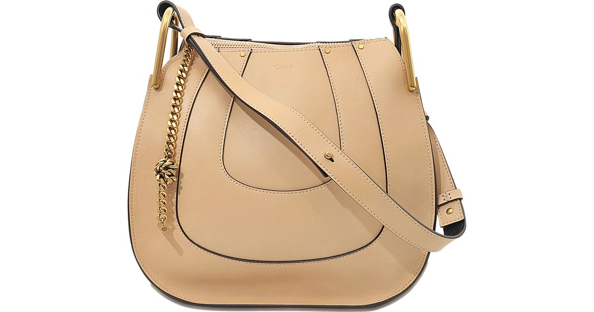 e8574803e8dd Chloé Hayley Small Leather Shoulder Bag in Natural - Lyst