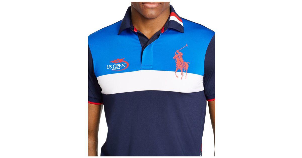 567edf26996f3 ... sweden lyst polo ralph lauren us open rlx ball boy airflow polo in blue  for men