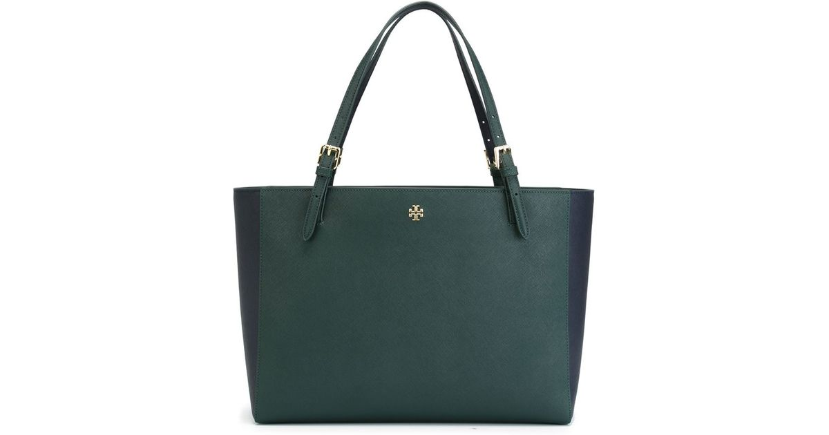 Tory Burch Green Perry Tote Bag