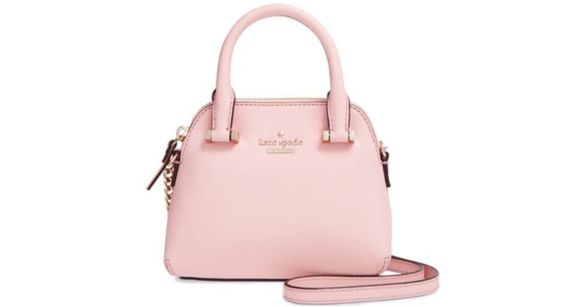 7be649df7cc5 Lyst Kate Spade Cedar Street Mini Maise Crossbody Bag In Pink