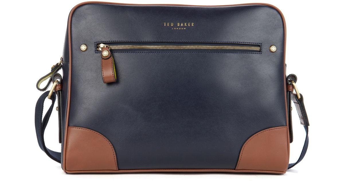 05adf274466f Ted Baker Blue Leather Despatch Bag
