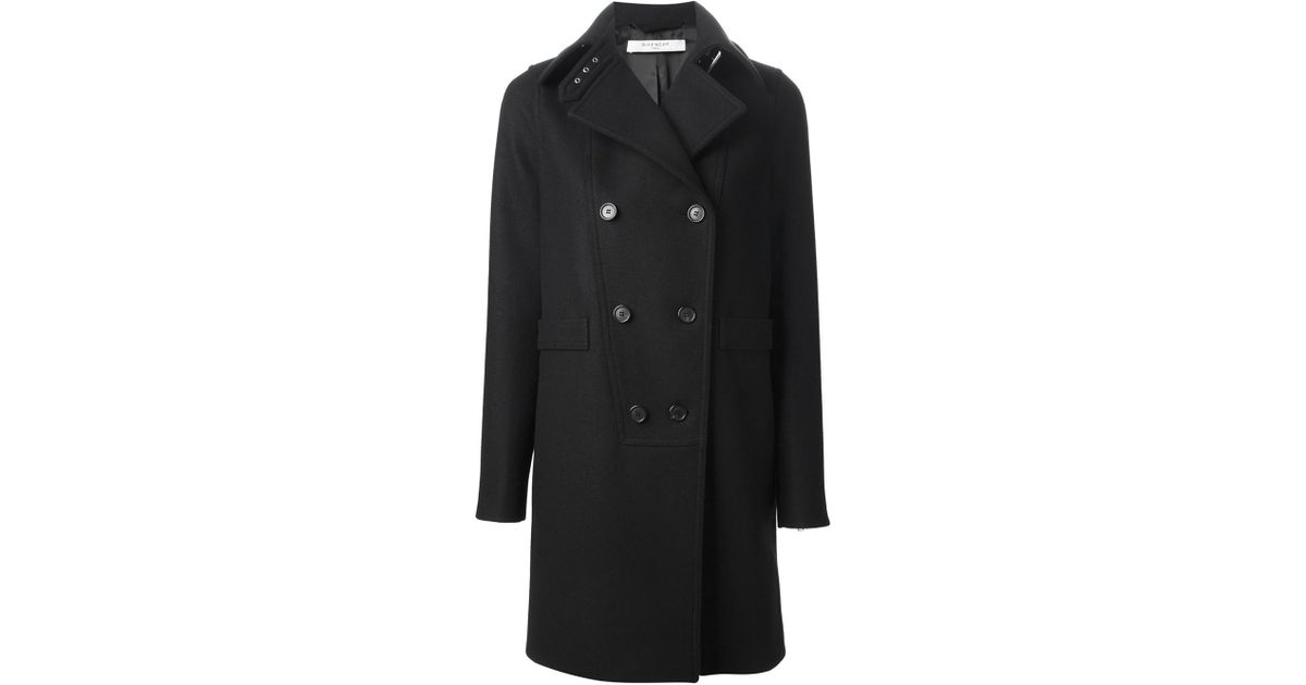 Black single-breasted coat Givenchy Outlet Enjoy Free Shipping Low Price 2m7TzJA2L0