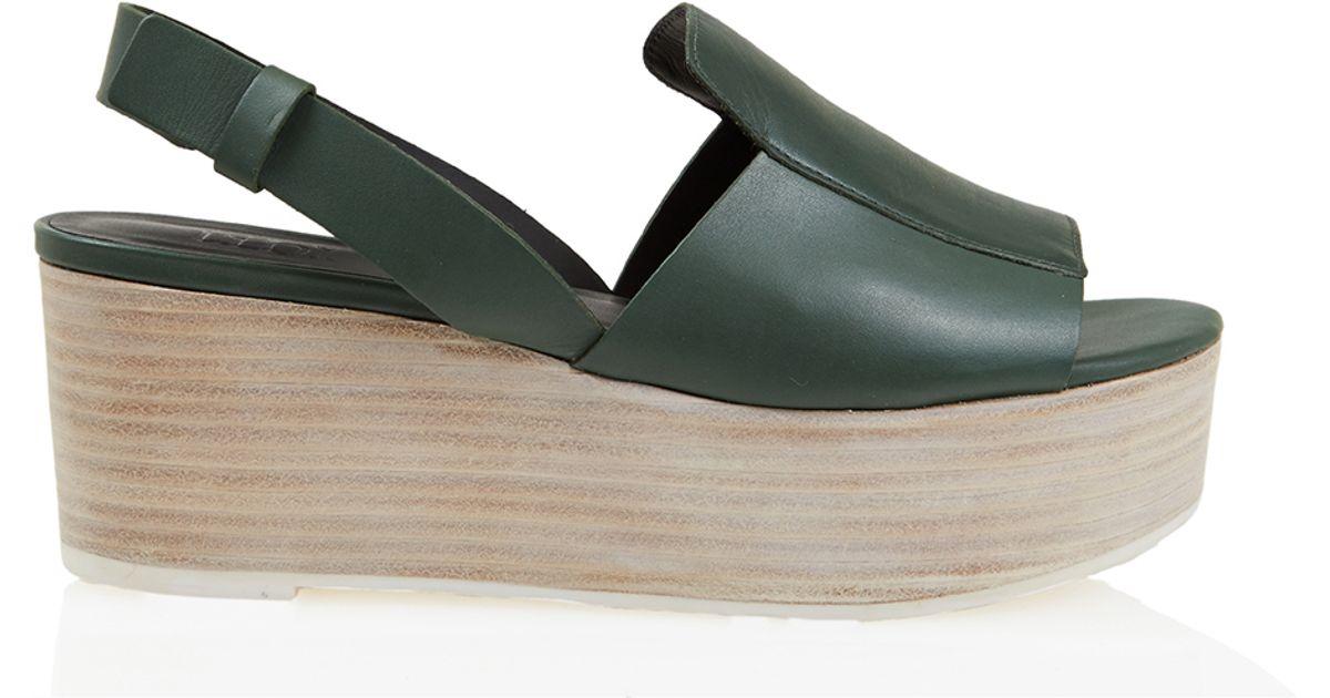 7c56cd1003c Lyst - Tibi Alex Platform Sandals in Green