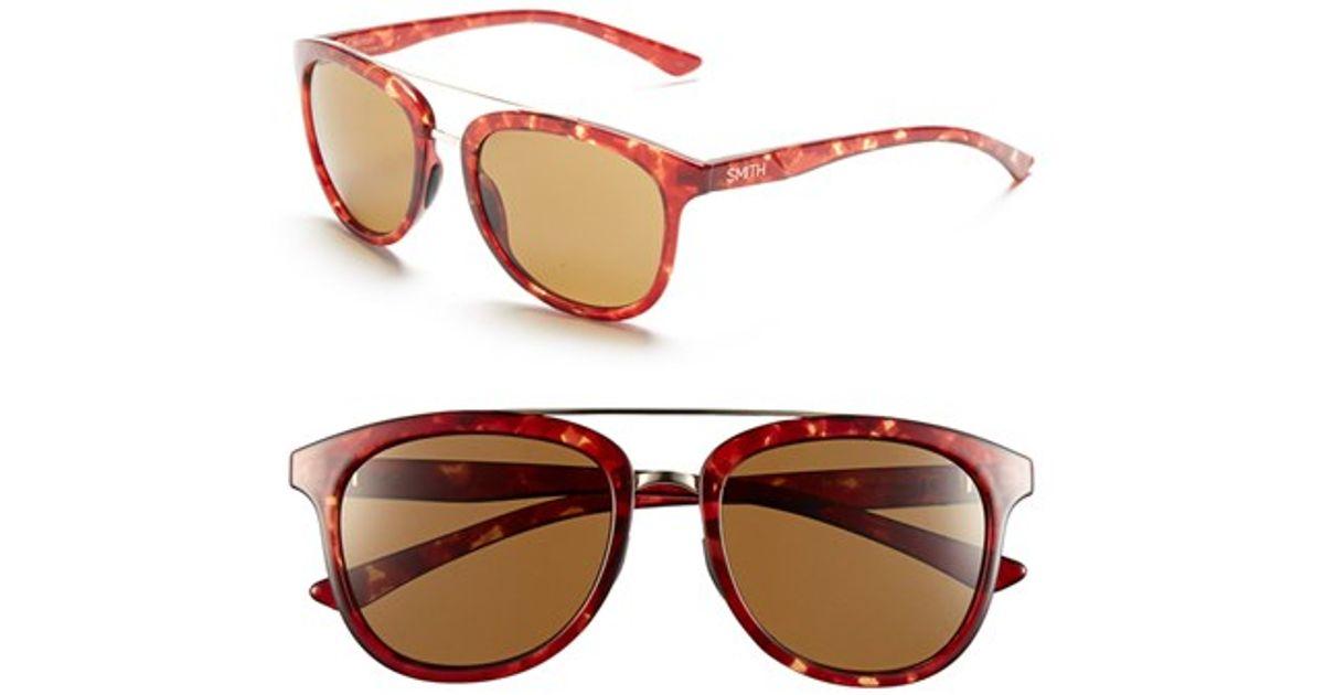 6adc93b452d4f Lyst - Smith Optics  clayton  54mm Aviator Sunglasses in Red