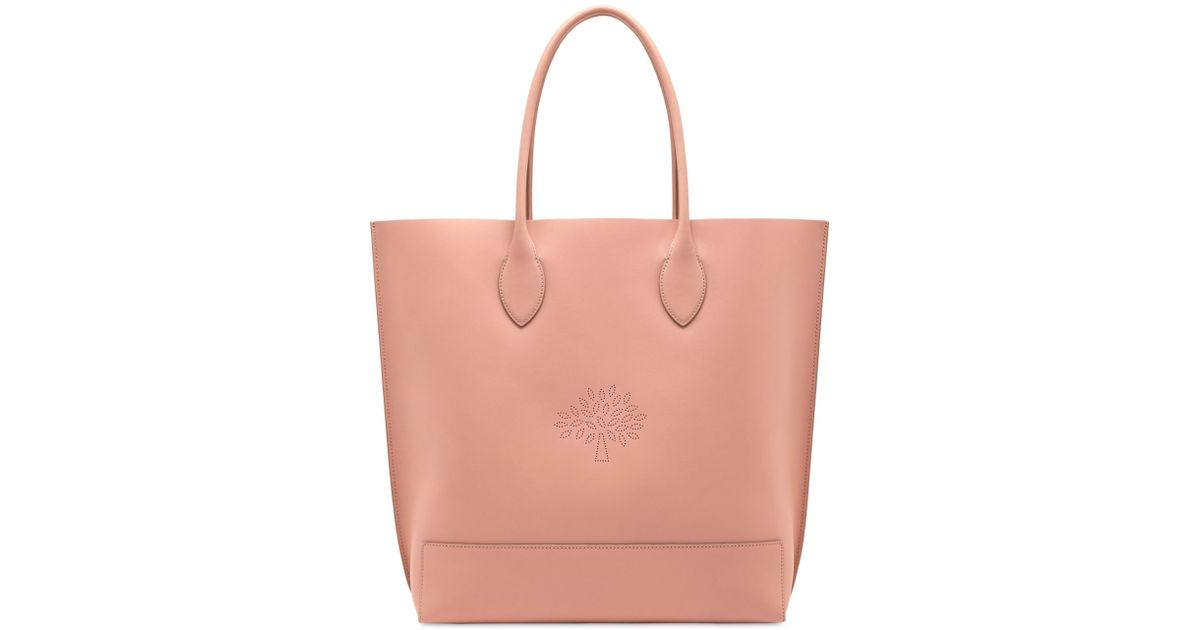 Mulberry Blossom Nappa Leather Tote Bag in Pink - Lyst d1965de70ea01