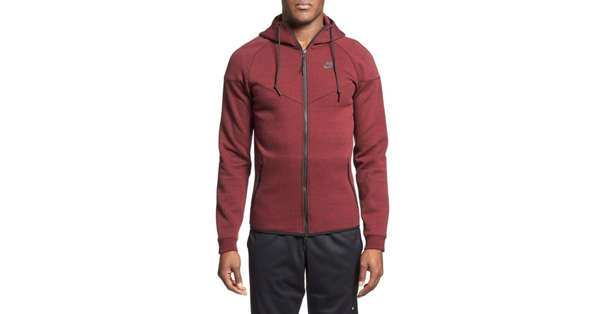 9774be469395 Lyst - Nike Water Repellent Tech Fleece Windrunner Jacket in Red for Men