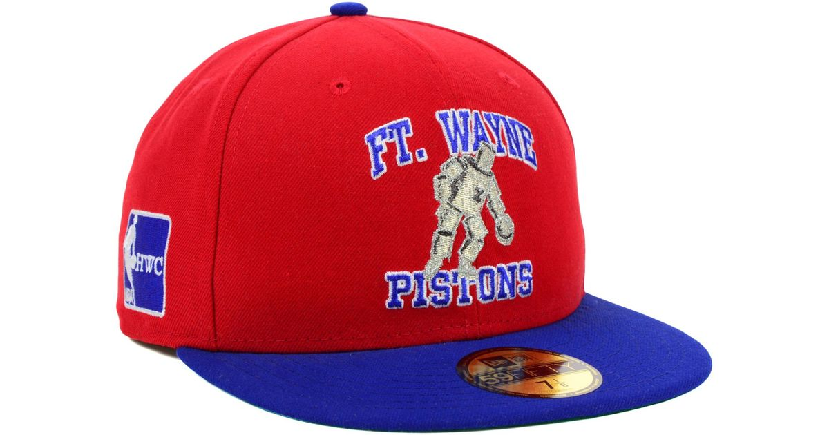 d0940543ab1 Lyst - KTZ Fort Wayne Pistons Hardwood Classics Custom Collection 59fifty  Cap in Red for Men