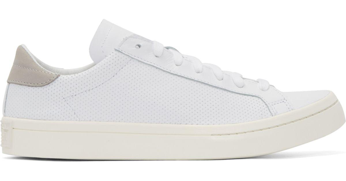 812cda8b Adidas Originals White And Grey Court Vantage Sneakers for men