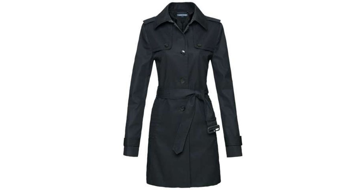 tommy hilfiger heritage trench coat in black lyst. Black Bedroom Furniture Sets. Home Design Ideas