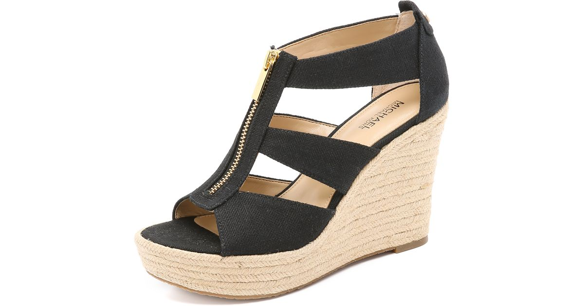 ff6e55c1237 MICHAEL Michael Kors Black Damita Wedge Sandals