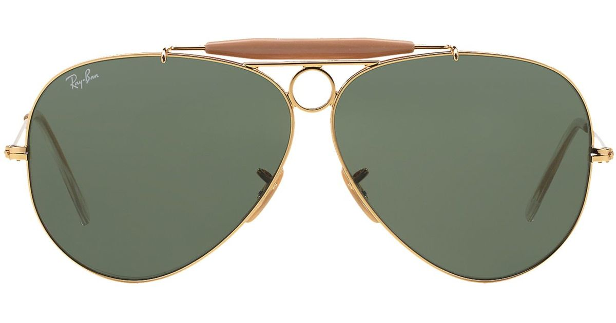 432428c72474d Lyst - Ray-Ban Rb3138 58 Shooter in Metallic