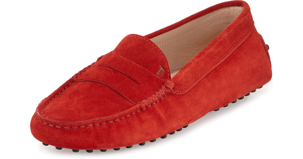 Tod's Gommini Suede Penny Loafers in