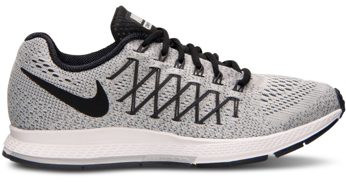 promo code 8e2d4 f9409 Nike Women s Zoom Pegasus 32 Running Sneakers From Finish Line in Gray -  Lyst