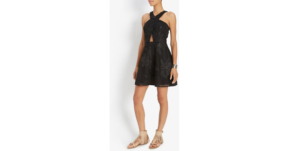 Jay godfrey lace overlay black dress