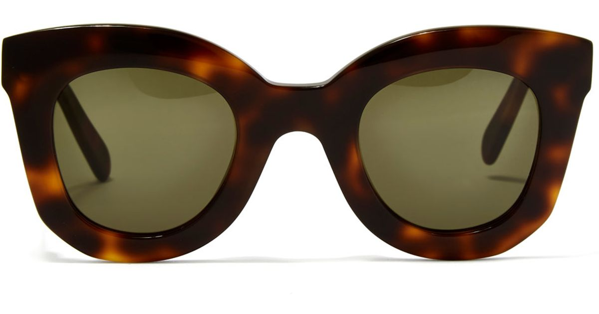 f2295462d87 Lyst - Céline Havana Brown Marta Small Sunglasses in Brown