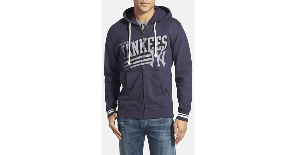 cheap for discount fcdf2 4dbe7 Mitchell & Ness Blue 'new York Yankees' Tailored Fit Full Zip Hoodie for men