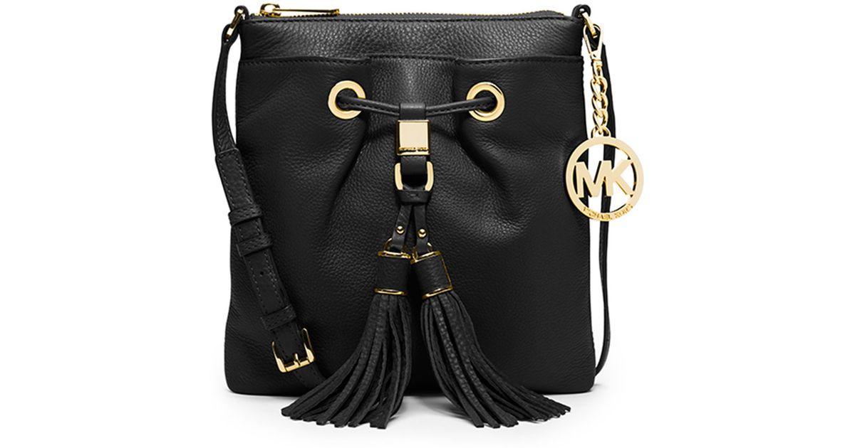 4de65fbf47f9d7 MICHAEL Michael Kors Camden Crossbody Bag in Black - Lyst