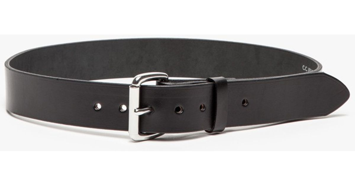 need supply co bridle leather belt in black in black for