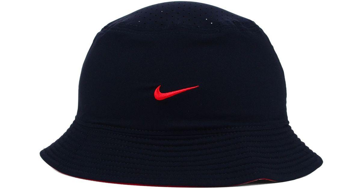 daac439b5e6 Lyst Nike Boston Red Sox Vapor Dri Fit Bucket Hat In Blue For Men