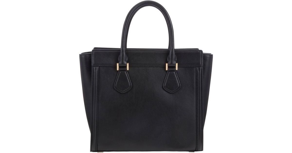 c99deb651a17 Michael Michael Kors Colette Large Leather Satchel Bag in Black - Lyst