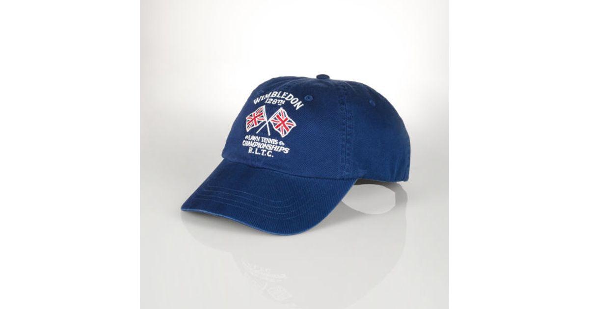 374b9bb1 Polo Ralph Lauren Wimbledon Flags Cap in Blue for Men - Lyst