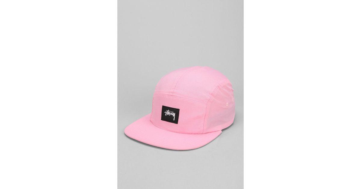 Lyst - Stussy Nylon Neon 5panel Hat in Pink for Men ef61d1ff41