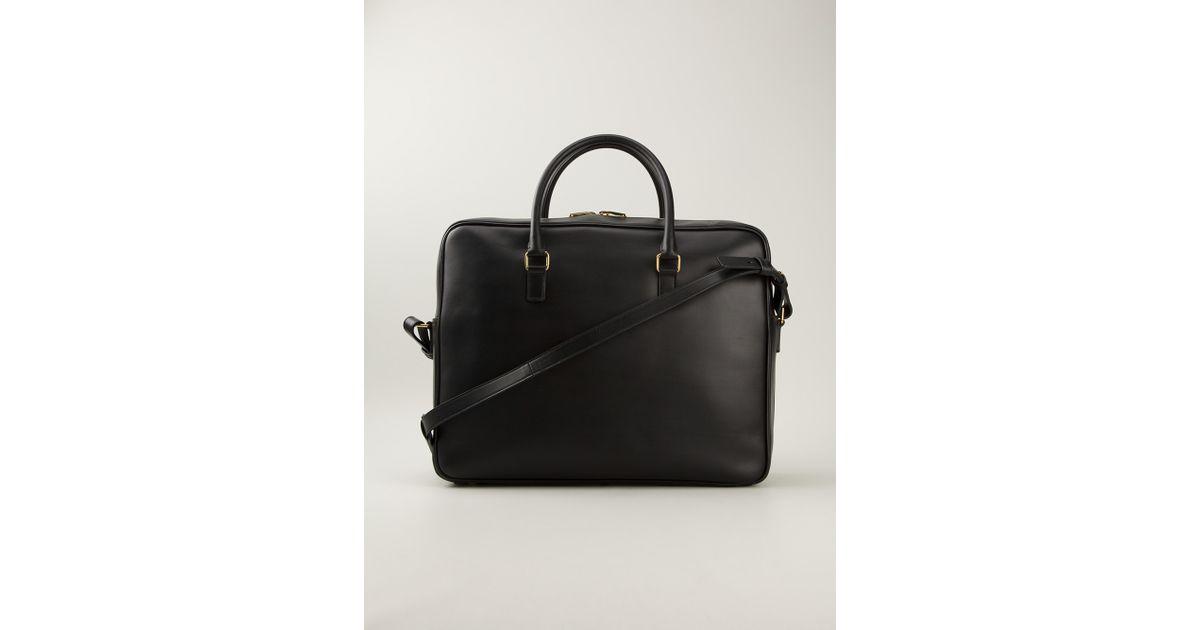 41c86ad247 Saint Laurent Black Small Classic Duffle Briefcase for men
