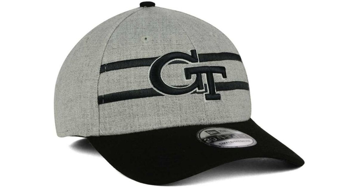 huge selection of d37c9 91fe4 KTZ Georgia Tech Yellow Jackets Gridiron 39thirty Cap in Gray for Men - Lyst