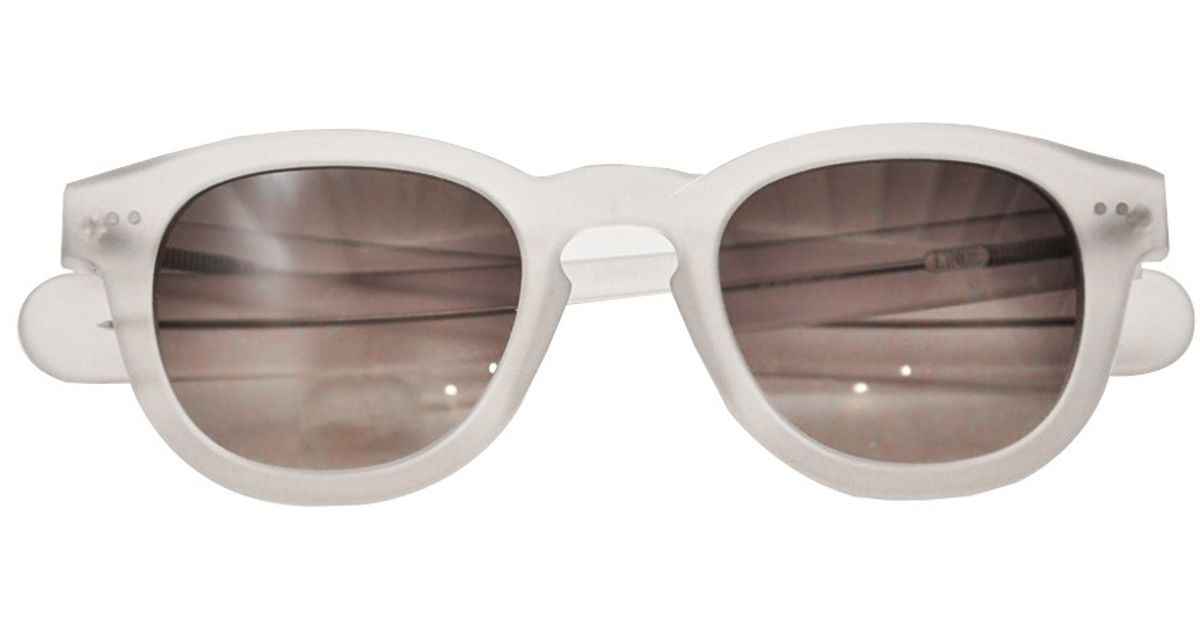 b27ba54b9d Lyst - L Inde Le Palais Sunglasses With Round Lenzes in White