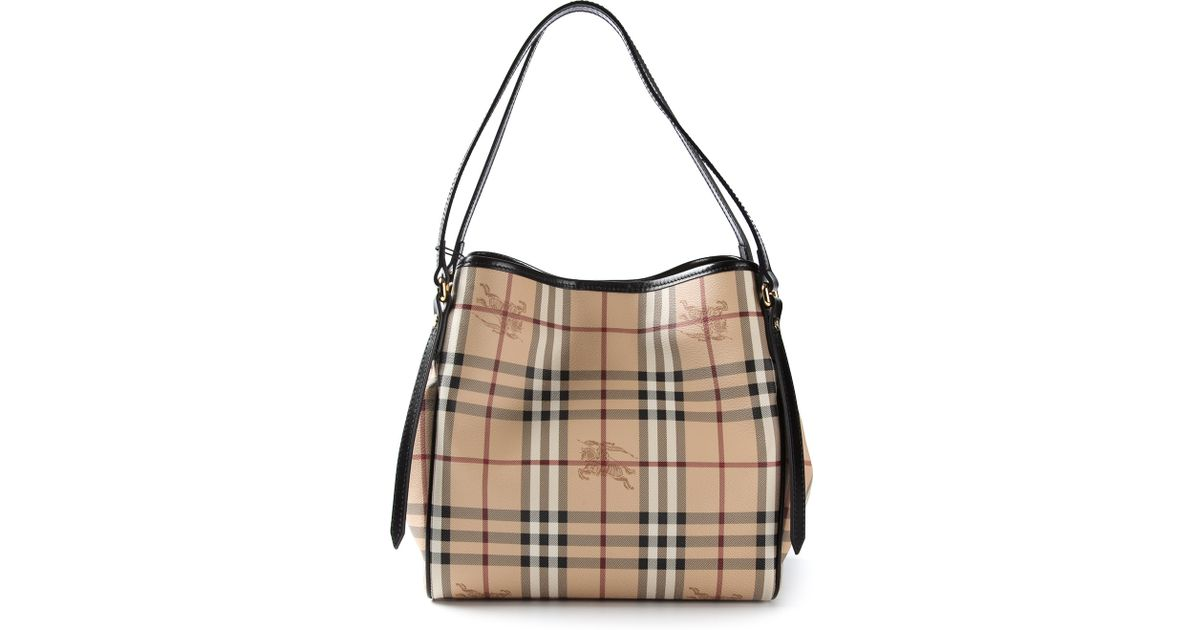 Lyst - Burberry Canterbury Checked Bag in Natural 6bc0d88c9a6f1