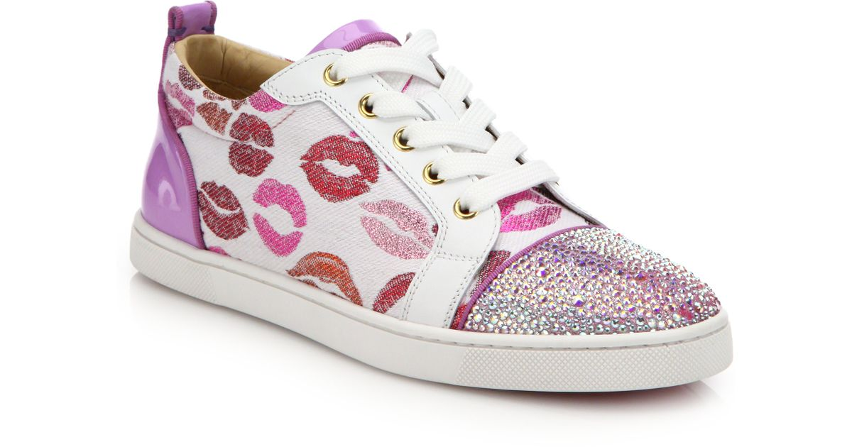 74abed460ff Christian Louboutin Multicolor Low-top Lip Sneakers